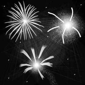 Coloring page fireworks
