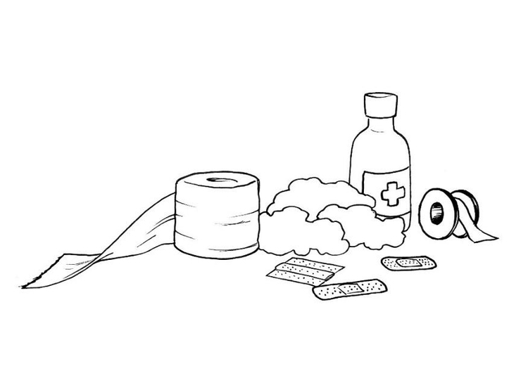 Coloring page first aid