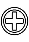Coloring pages first aid icon