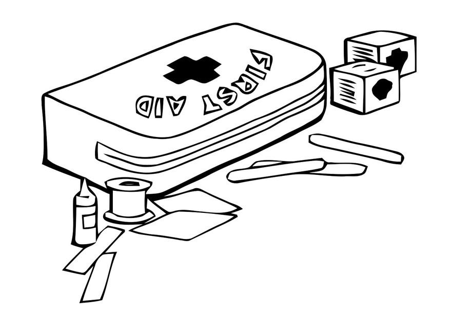 Coloring Page First Aid Kit - Free Printable Coloring Pages - Img 22791