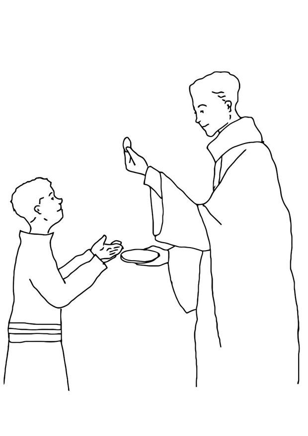 Coloring page First Communion - img 21686.