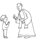 Coloring page First Communion
