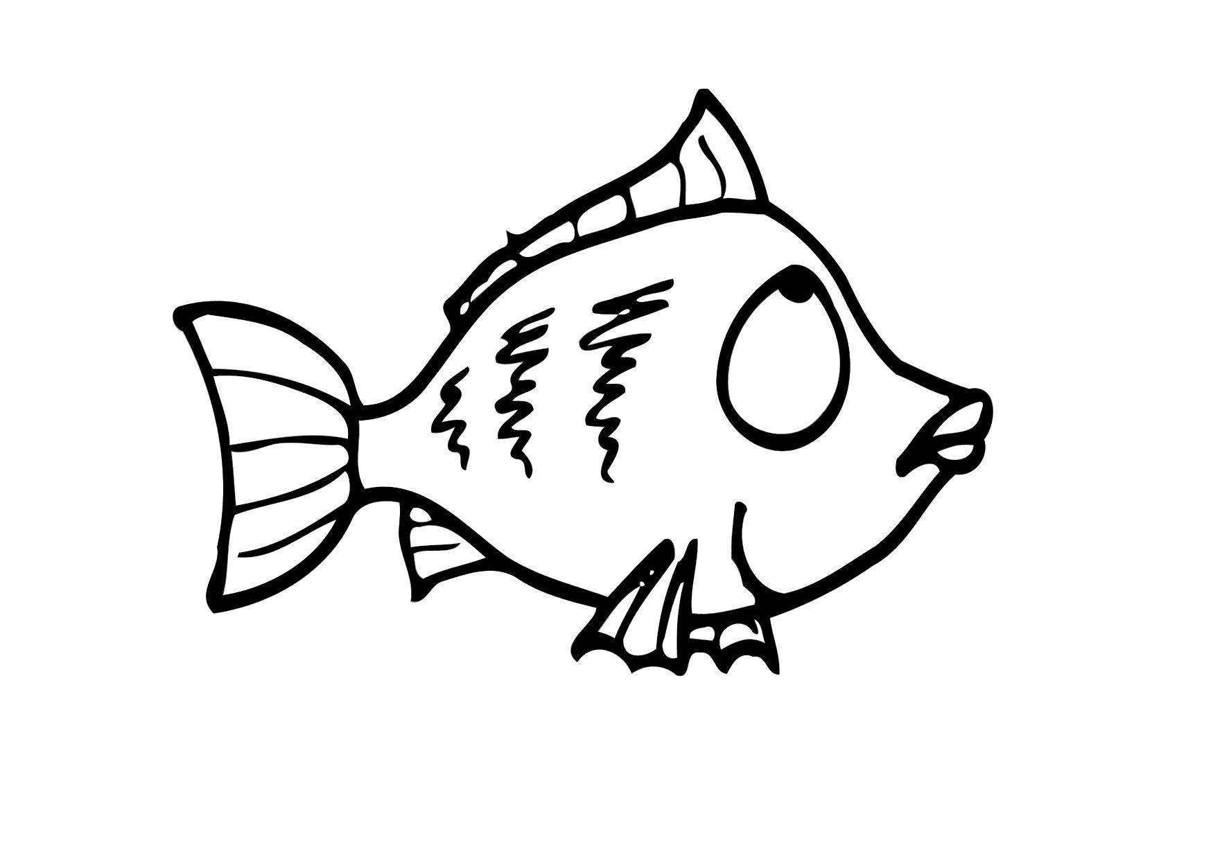 coloring page fish img 12293