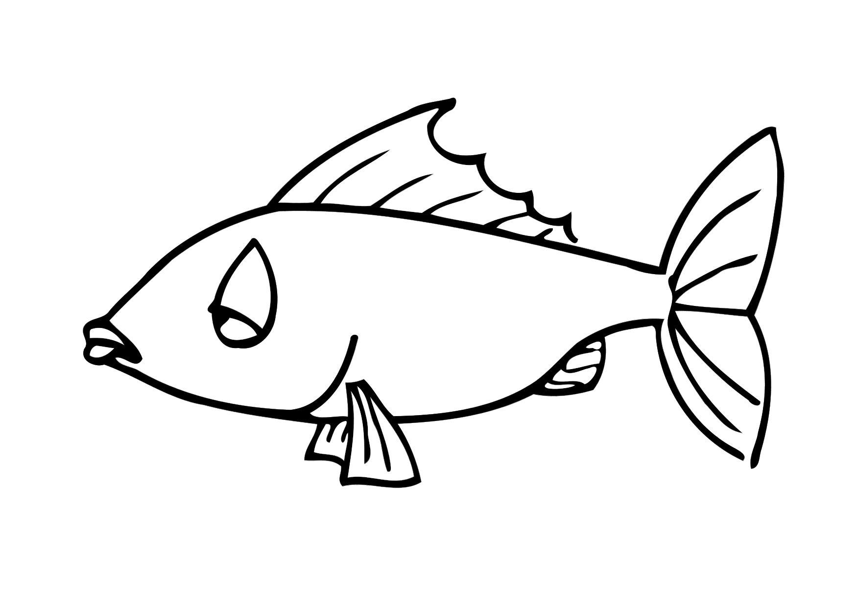 Coloring page fish - img 12298.