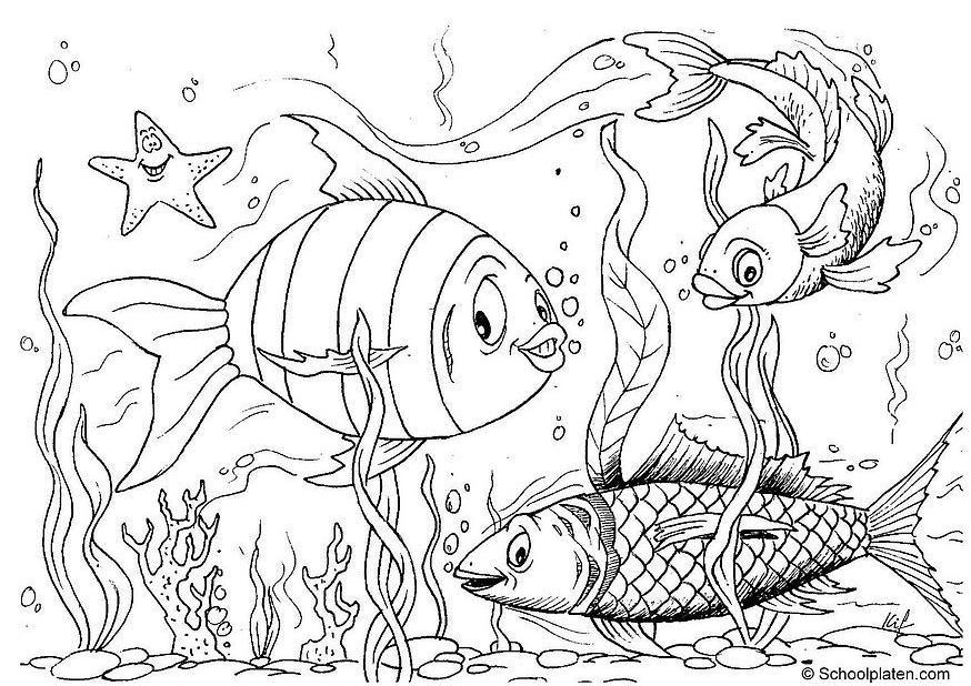 Color Me Free / Free Coloring Pages Coloring page fish