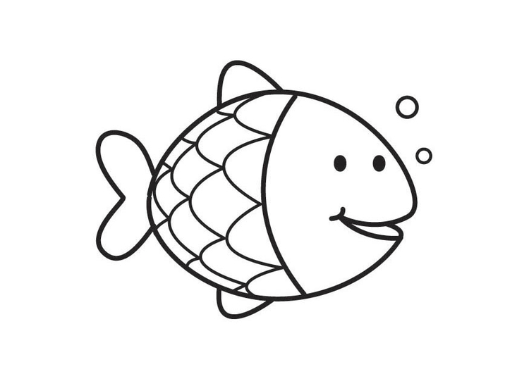 Coloring page Fish - img 17714.