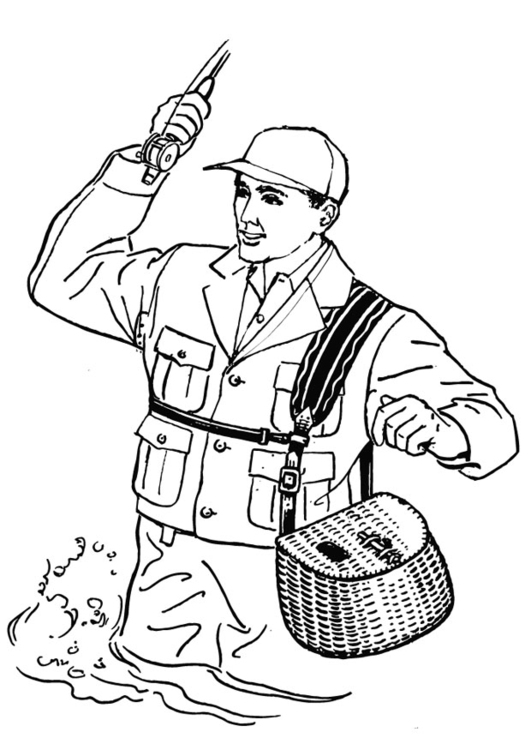 Fisherman Coloring Pages Page Img 13264