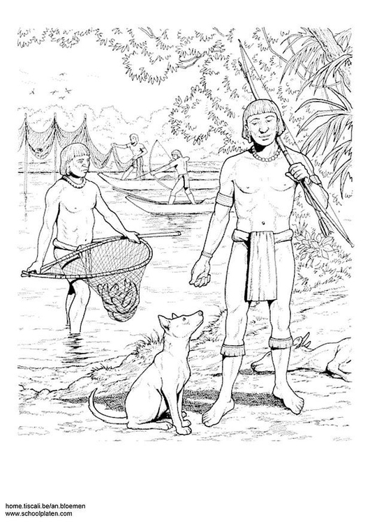 Coloring page fishing