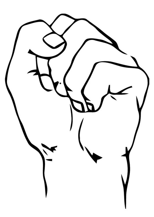 Coloring page Fist