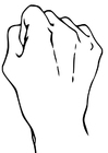 Coloring pages Fist