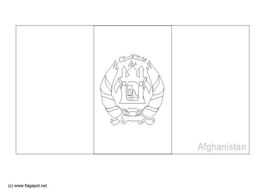 Afghanistan Flag Dessin