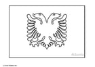 Coloring page flag spain 2 img 6385 for Albanian flag coloring page