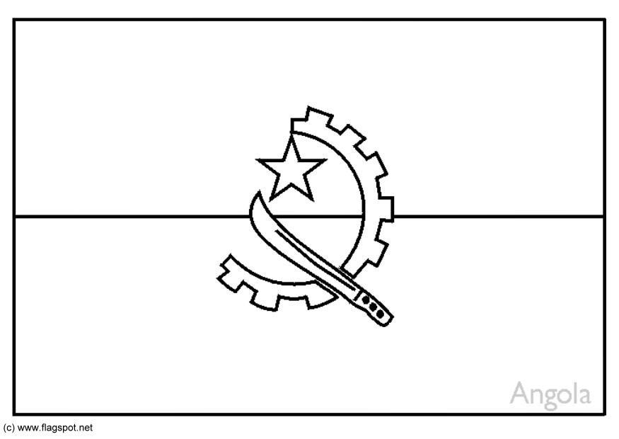 Coloring page flag angola img 6178 Cook Islands Flag Coloring Page Flag Drawing angola flag coloring page