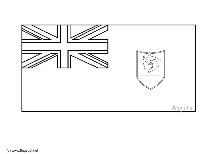 Coloring page flag Anguilla
