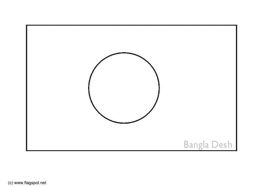 Coloring Page Flag Bangladesh Img 6273 Images