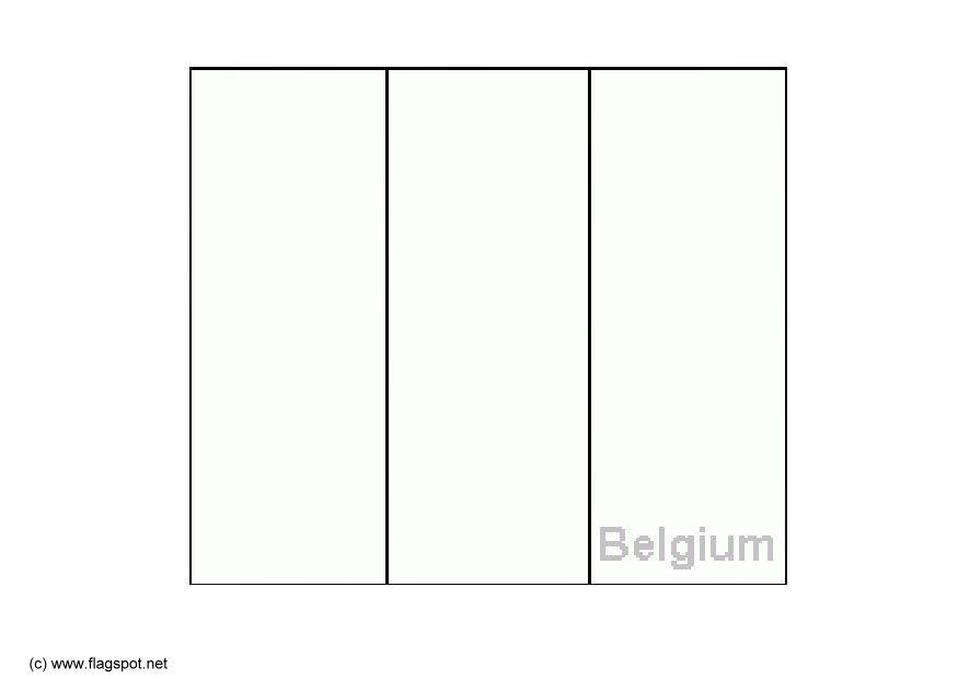 Coloring page flag belgium img 6140 for Belgium flag coloring page