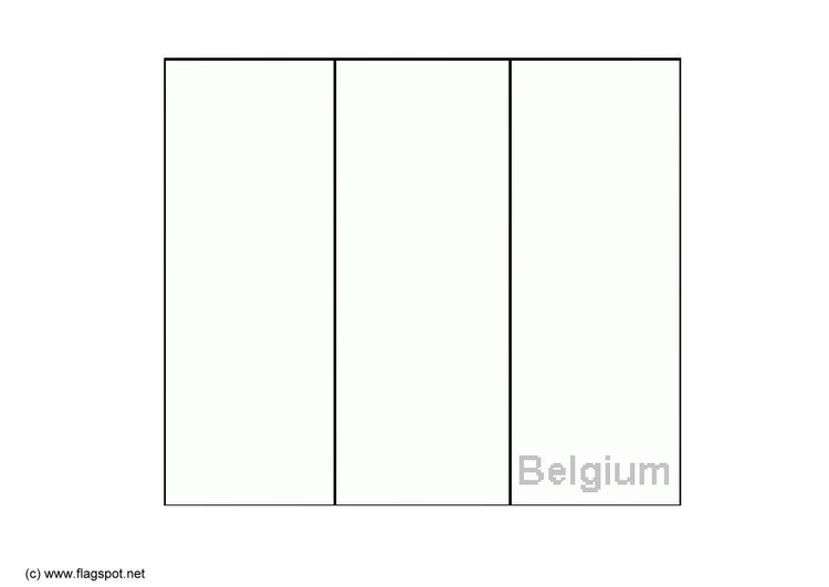 Coloring page flag Belgium