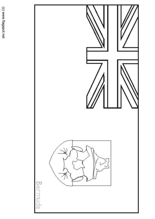 Coloring page flag bermuda img 6323 for Bermuda flag coloring page