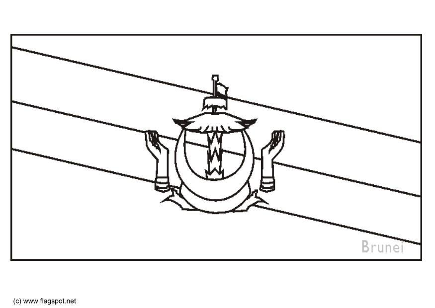 Brunei Flag Coloring Pages - Learny Kids