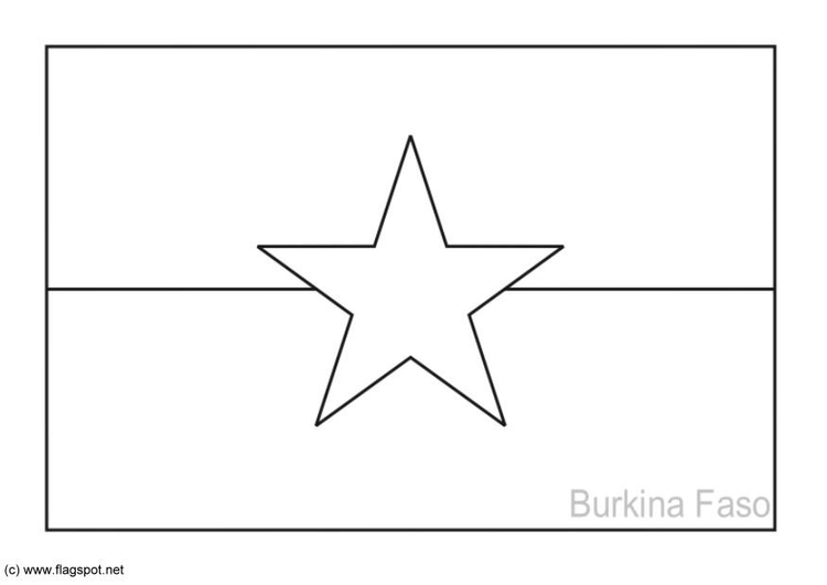 Coloring page flag Burkina Faso