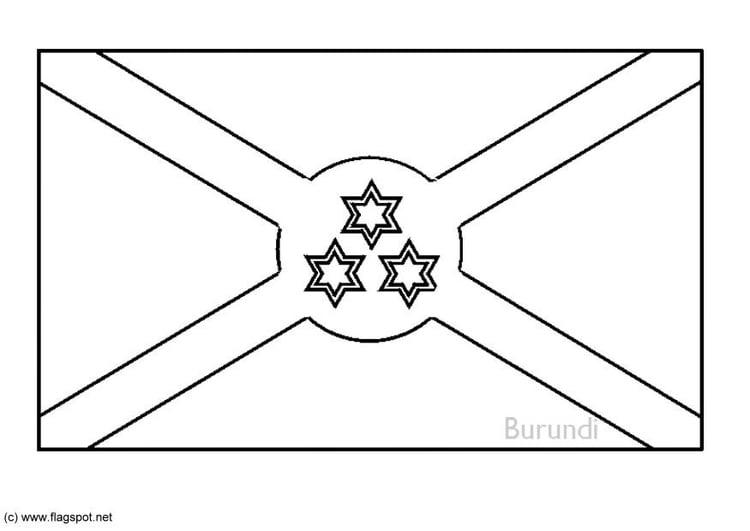 Coloring Page Flag Burundi