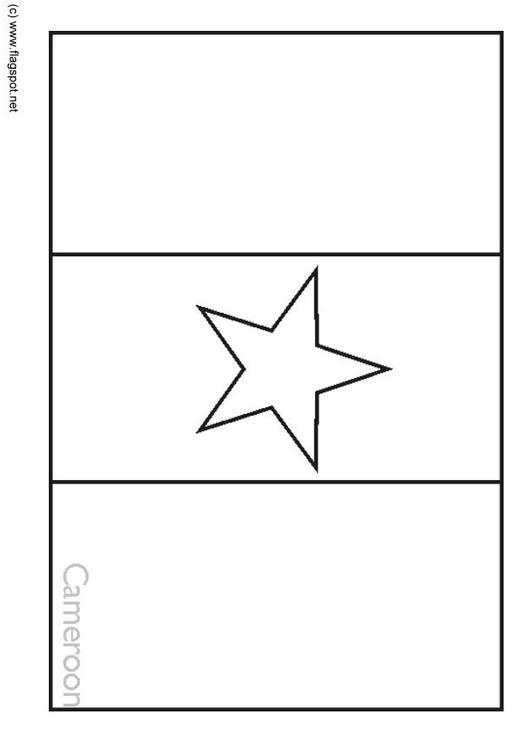 Coloring Page Flag Cameroon