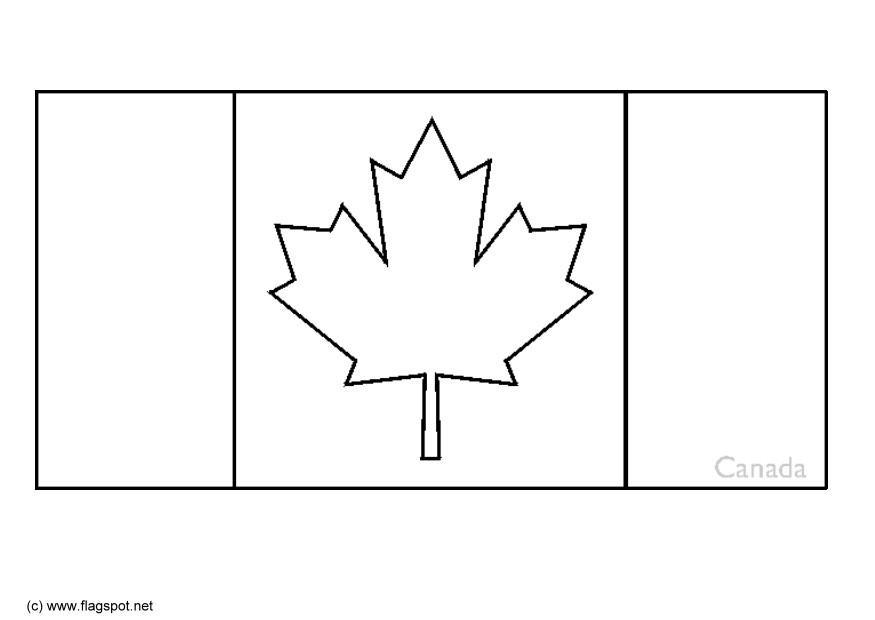 Coloring page flag Canada - img 6324.