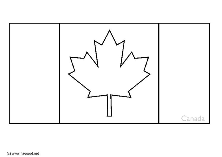 Coloring page flag Canada