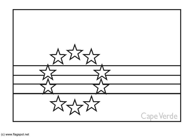 Coloring page flag Cape Verde