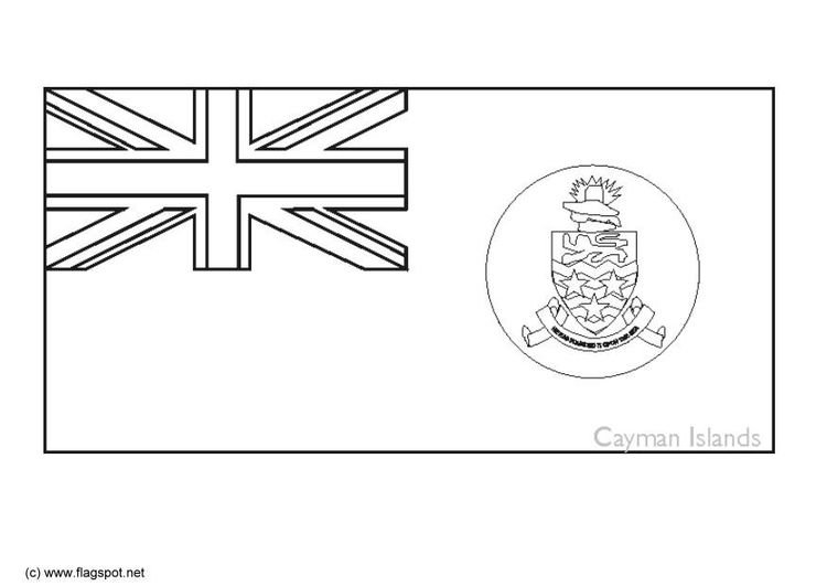 Coloring page flag Cayman Islands