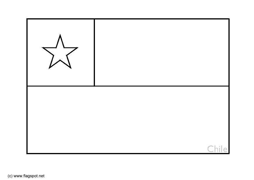 Coloring Page Flag Chile