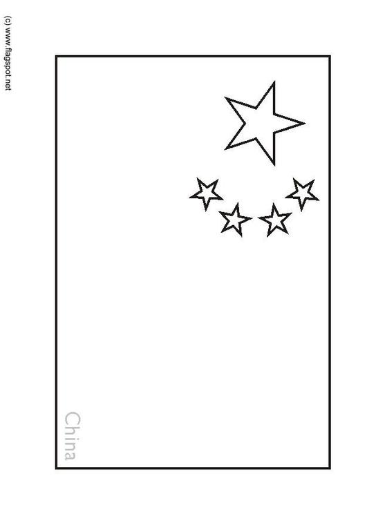 Coloring page flag China img 6277