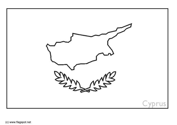 Coloring page flag Cyprus