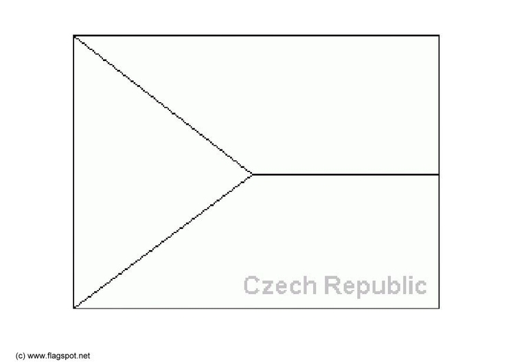 Coloring page flag Czech Republic