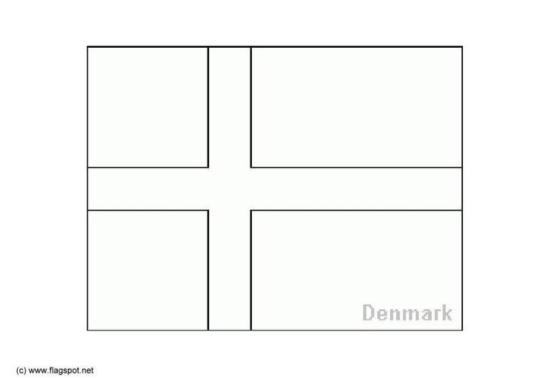 Coloring Page Flag Denmark