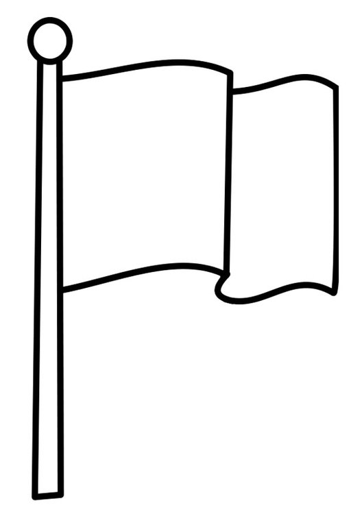 Coloring page flag
