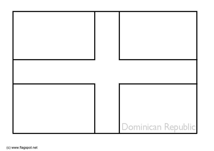 Coloring page flag Dominican Republic
