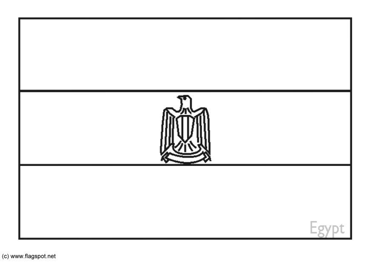 egyptian flag coloring pages - photo#5