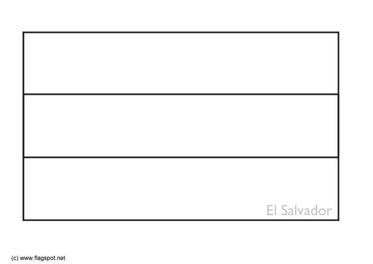 Coloring page flag el salvador img 6351 Nicaragua Flag Coloring Page honduras flag coloring page Argentina Flag Coloring Page