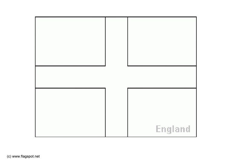Coloring page flag England