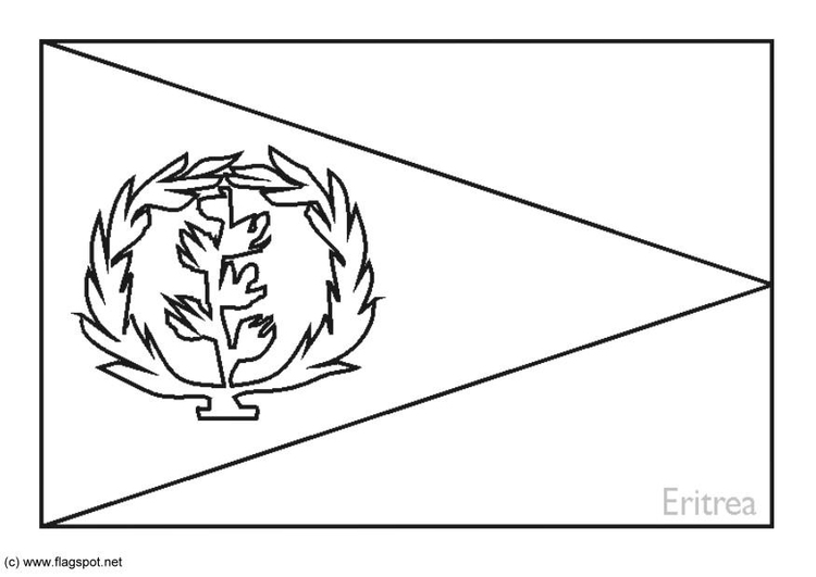 Coloring page flag Eritrea