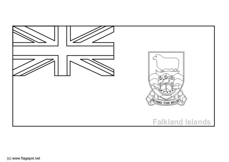 Coloring page flag Falkland Islands