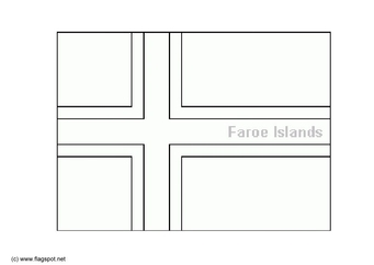 Coloring page flag Faroe Islands