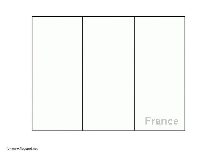 Coloring page flag France
