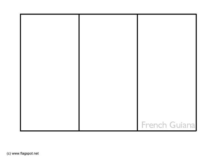 Coloring page flag French Guyana