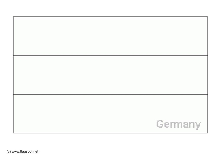 Coloring Page Flag Germany