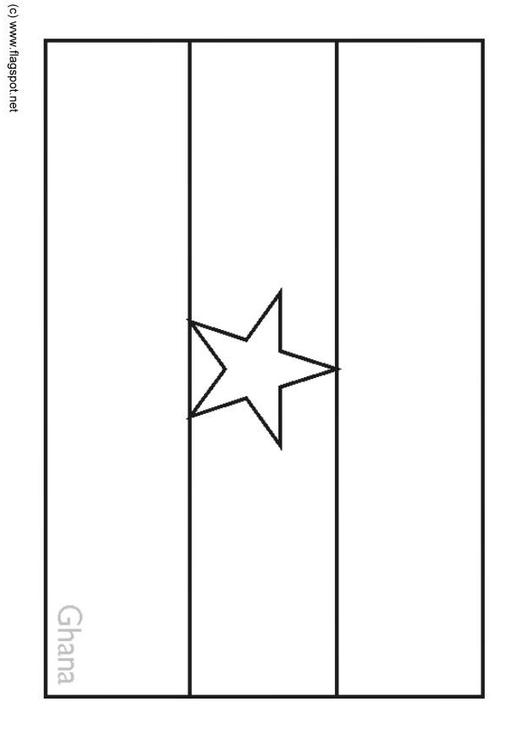 Coloring Page Flag Ghana