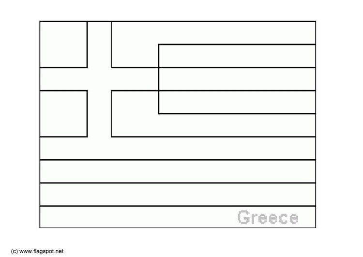 Coloring page flag Greece