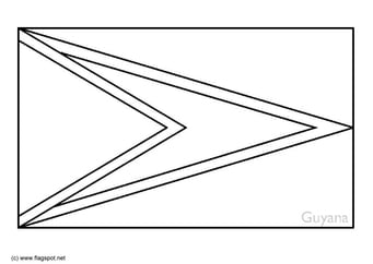 Coloring page flag Guyana