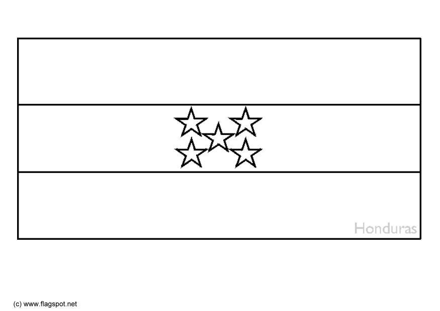 Coloring Page Flag Honduras